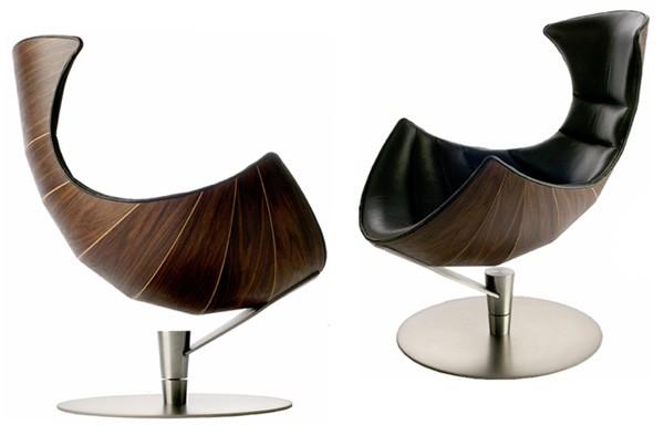 kahverengi deri tekli sandalye model