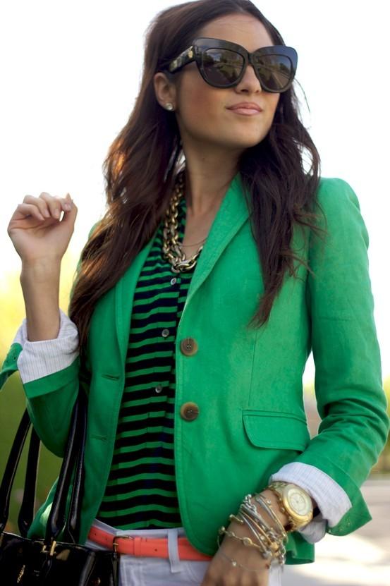 Muhteşem Yeşil Ceket Kombini