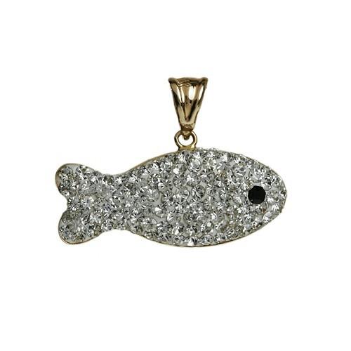 taşlı balık modelinde kolye ucu