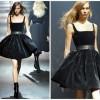 yeni sezon siyah kadife elbise modeli
