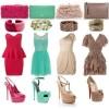 farklı renklerde elbise kombinleri