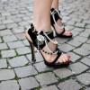 farklı yeni trend taşlı topuklu ayakkabı