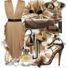 kahve tonlarında farklı elbise kombini