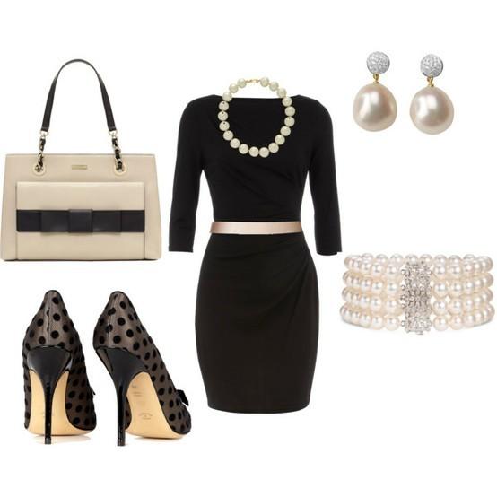 Siyah Elbise Muhteşem Ayakkabı Kombini