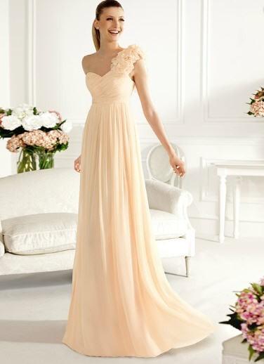 uzun şifon yeni moda abiye elbise