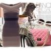 yeni moda elbise ayakkabı çanta gözlük kombini