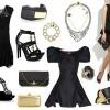 yeni trend siyah elbise kombinleri