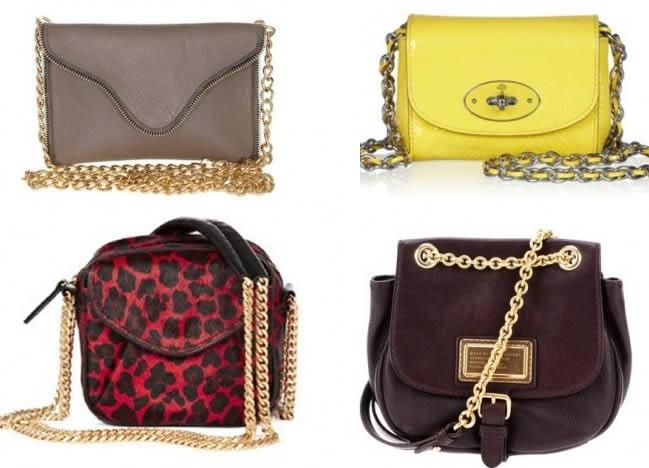 2013 en güzel farklı zincir askılı çanta modeli