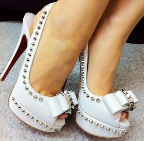 2013 zımbalı gelin ayakkabısı modeli