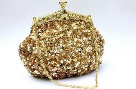 pul işlemeli şık dore çanta modeli