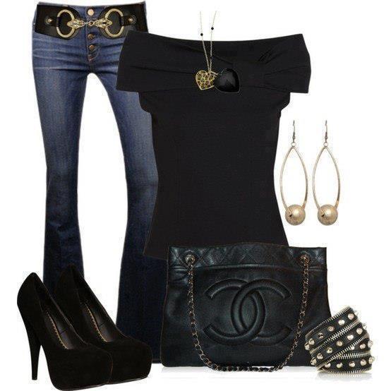 siyah laci pantolon kombin modeli