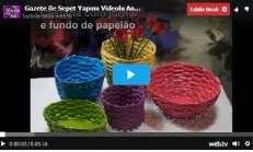 Gazete ile Sepet Yapımı Videolu Anlatım