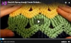 Tığ işi Zigzag Yatak Örtüsü Videolu Anlatım