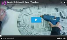 Gazete İle Dekoratif Ayna – Videolu Anlatım